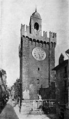 Clock tower in Brescia